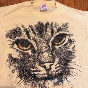 Vintage 2 Sided Cat Glittery 1989 T-shirt